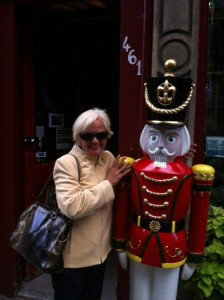 Pat doing some window shopping in Old Montreal