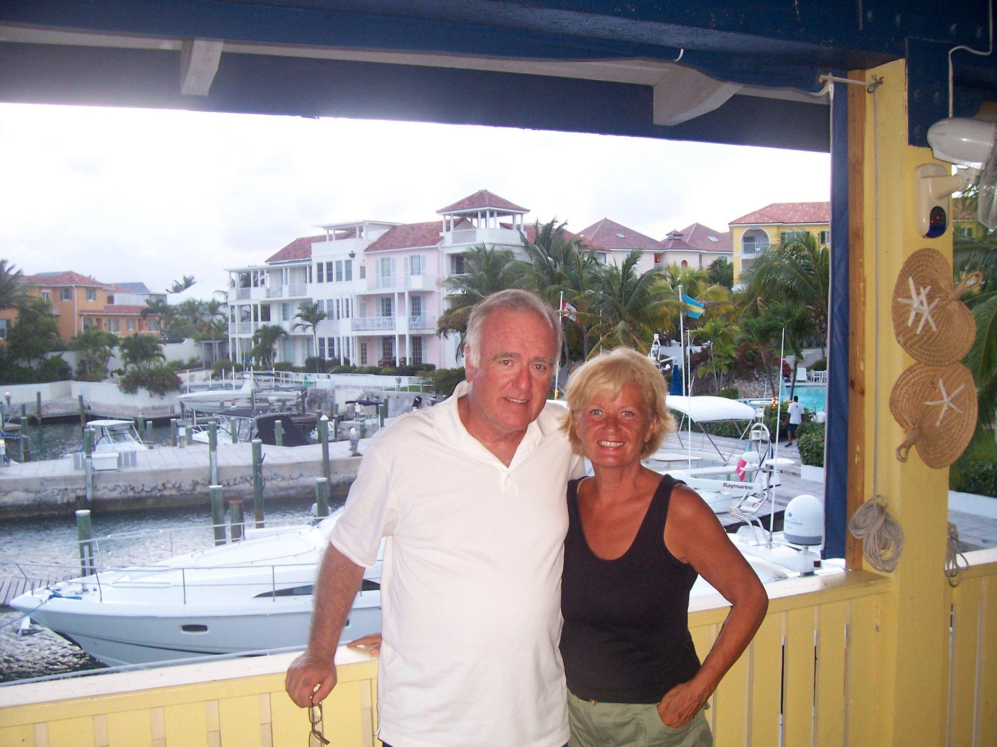 Pat and Bill Cara in The Bahamas